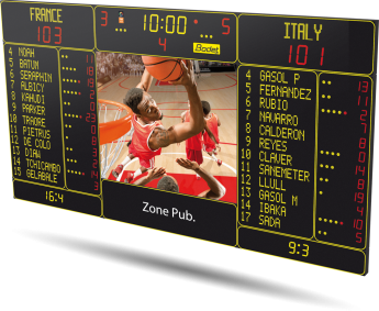 Bodet - Basketball Scoreboard - BT6730 Video 7M 12P H15